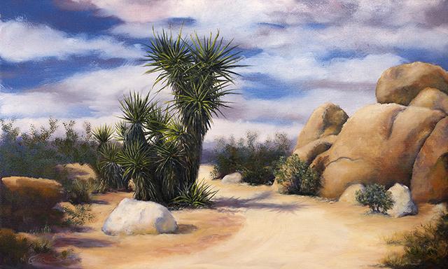 , 'Path Near White Tank,' 2017, Joshua Tree Art Gallery
