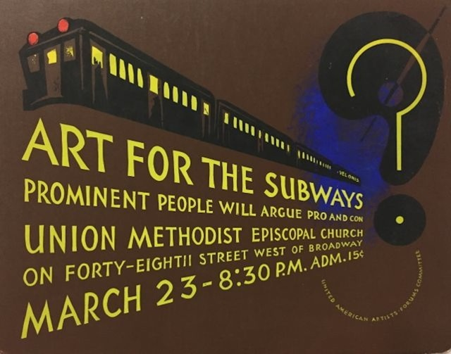 , 'Art for the Subways,' 1937, Susan Teller Gallery