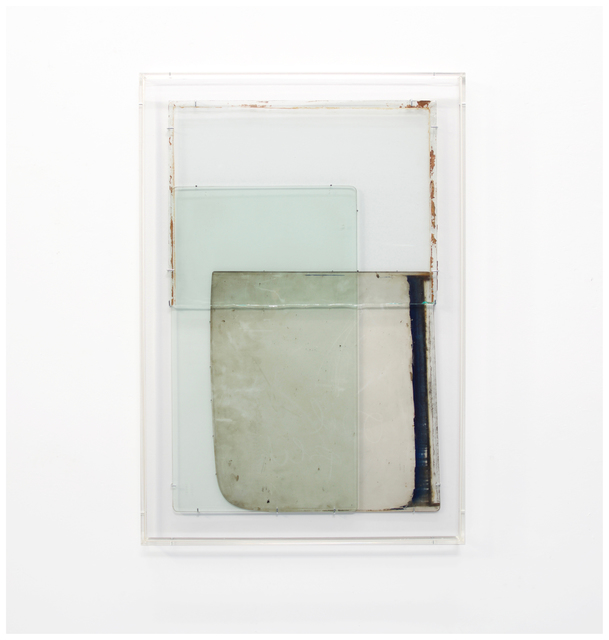 Anneke Eussen, 'Tomorrow 01', 2021, Sculpture, 3 time stained car panes mounted on wood in plexibox frame, Tatjana Pieters