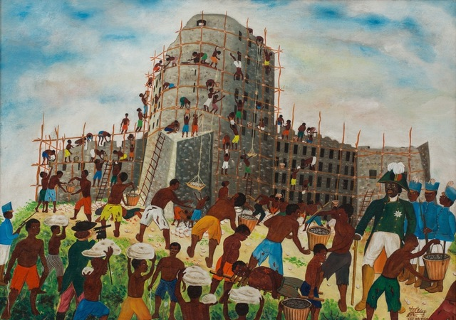 , 'King Christophe Inspires the Building of the Haitian Citadel,' ca. 1962, ZQ Art Gallery
