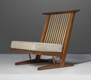 A 'Conoid Cushion' lounge chair
