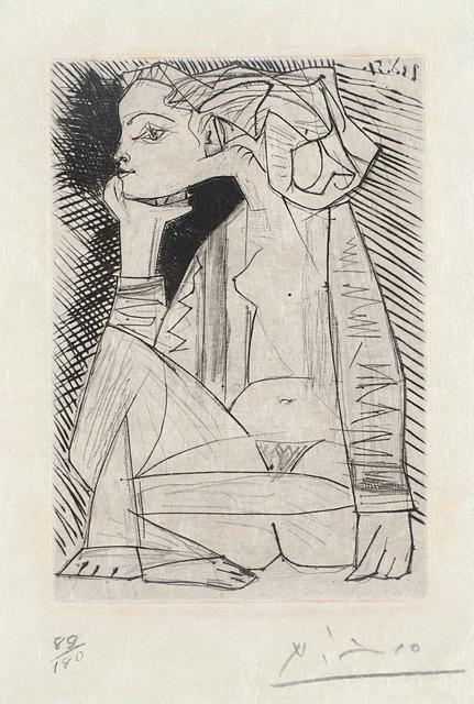 Pablo Picasso, 'Femme assise en tailleur: Geneviève Laporte (Seated Woman in a Suit: Geneviève Laporte)', 1951, Phillips