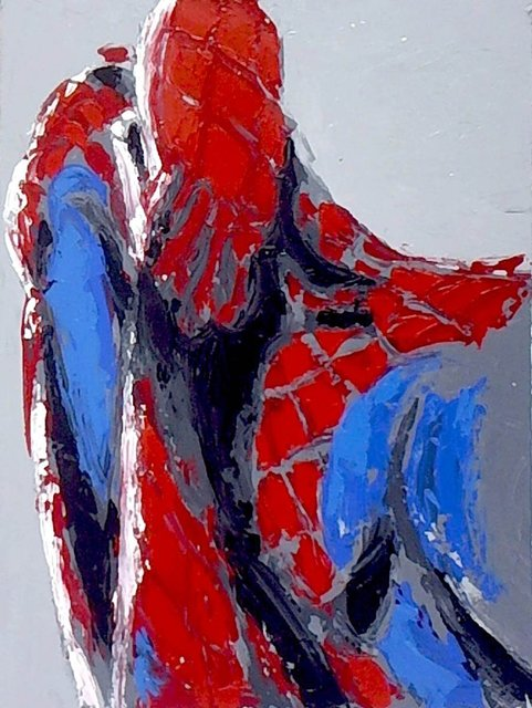, 'sad marvel man amazing spider spider-man,' 2018, Angela Tandori Fine Art