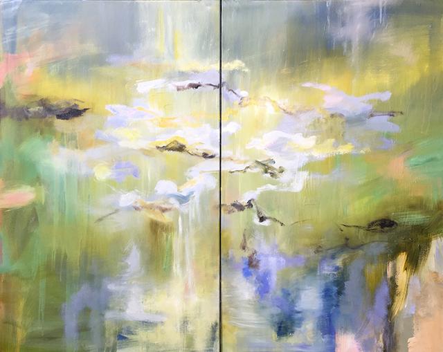 Kathy Buist, 'Waterlilies - Diptych', 2018, Galerie d'Orsay