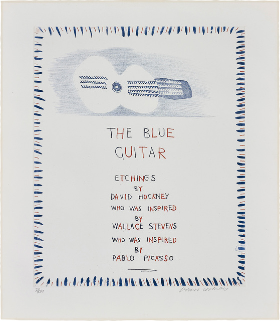 David Hockney, 'The Blue Guitar, from The Blue Guitar', 1977, Phillips