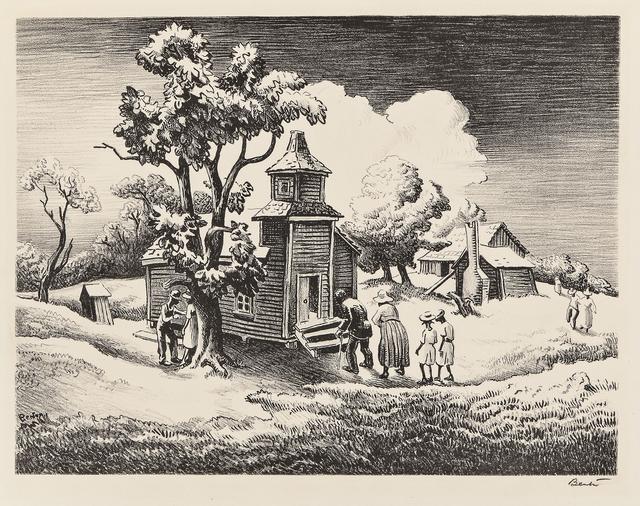 Thomas Hart Benton, 'Sunday Morning', 1939, Skinner