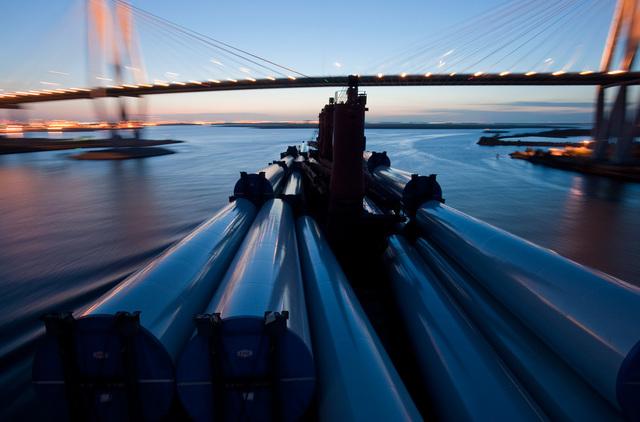 ", '""Wind Generator Towers, Bridge"",' ca. 2011, Foto Relevance"