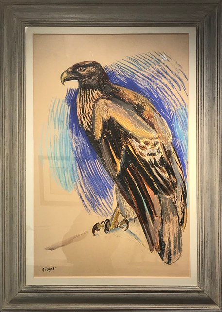 Raymond Bigot, 'Great Eagle', ca. 1935, Painting, Pastel bold, signed, Galerie Dumonteil
