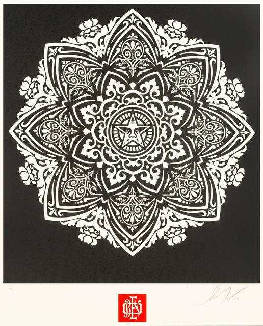 Shepard Fairey (OBEY), 'Mandala Ornament (Black)', 2010, Forum Auctions