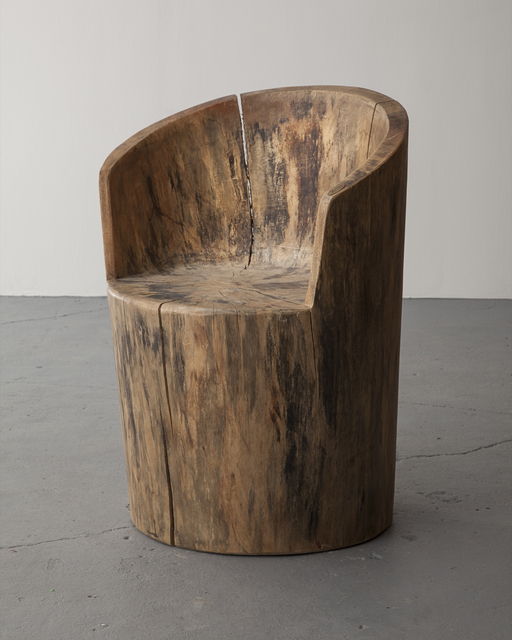 , 'Sculpted solid wood chair,' 1970s, R & Company