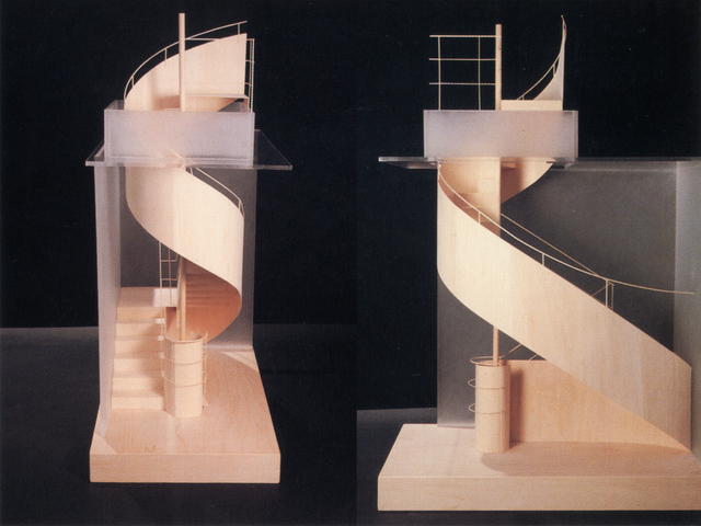 , 'MOBIUS STRIP HYBRID STAIR,' 1988, Nancy Hoffman Gallery