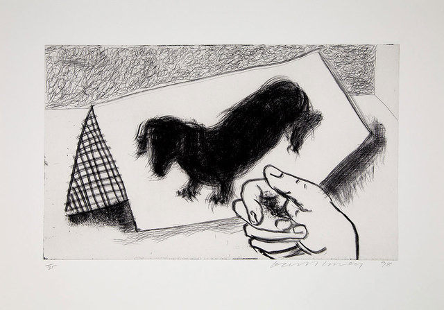 David Hockney, 'Dog Etching No. 4 from Dog Wall', 1998, Galerie Maximillian
