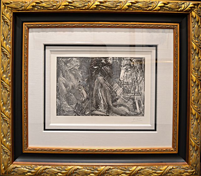 Pablo Picasso, 'Homme et Femme (B.1385; BA.1407)', 1966, Off The Wall Gallery