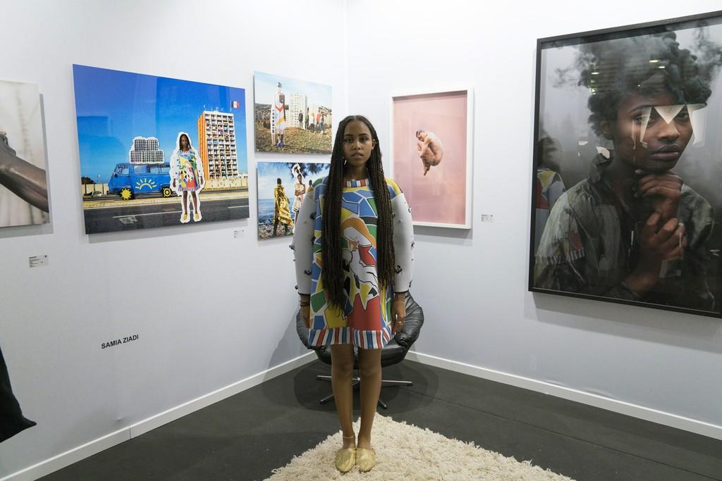 "Model wearing Samia Ziadi dress : ""La Robe Lumière"""