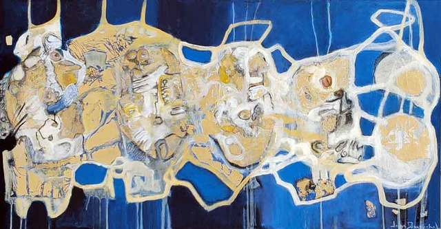 , ' When blue dresses in gold ,' 2019, Galerie Blanche