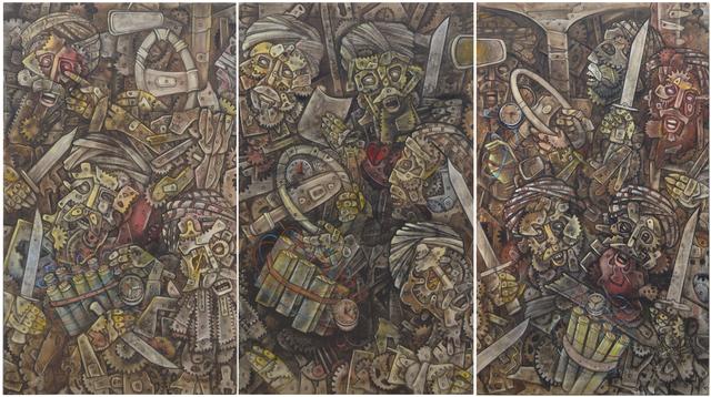 , 'Messengers of Death (triptych),' 2017, Sanat Initiative