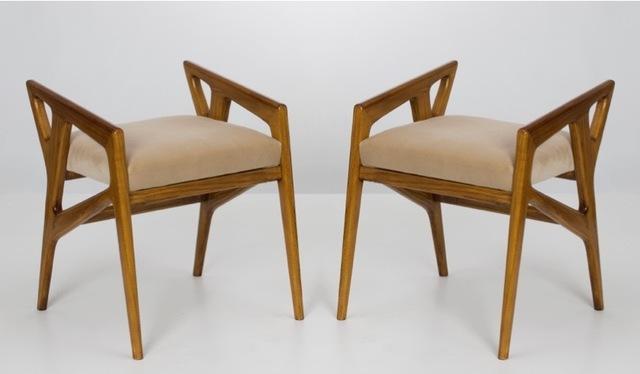 , 'Pair of stools,' 1950, Galleria Rossella Colombari