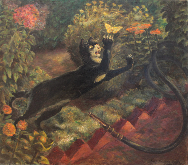 , 'Cat & Butterfly,' 1935, Kiechel Fine Art