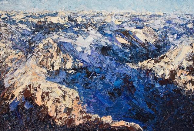 , 'Darren Mountains, Fiordland,' 2017, Rebecca Hossack Art Gallery