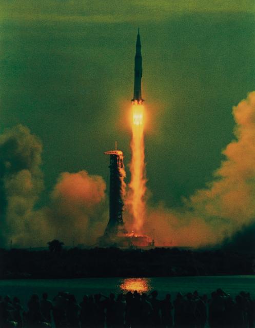 Hiro, 'Apollo 11, 9:32 AM, 7-16-69, Maiden Voyage to the Moon', 1969, Phillips