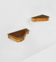Unique pair of wall-mounted bedside tables from Casa Orengo, Turin