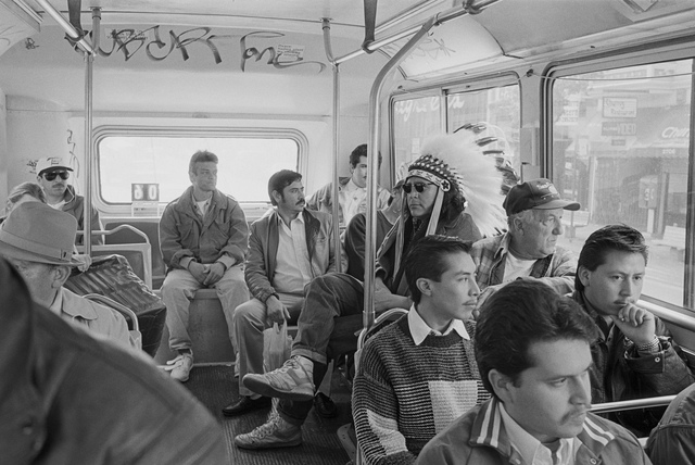 , 'Indian on Mission Bus,' 1994, Portland Art Museum