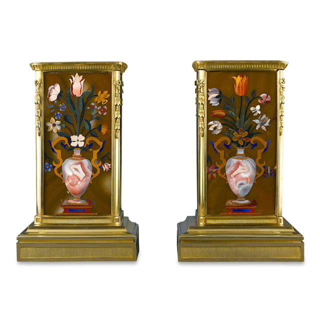 , 'RUSSIAN MALACHITE AND PIETRE DURE PLINTHS,' ca. 1825, M.S. Rau Antiques