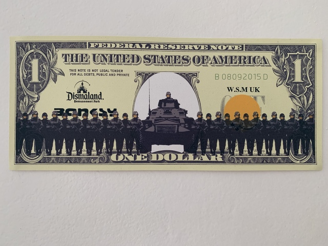 "Banksy, 'BANKSY DISMALAND US DOLLAR ""SMILEY FACED ARMY"", DISMAL DOLLAR, COMPLETE WITH COA , LTD EDT', 2015, Arts Limited"
