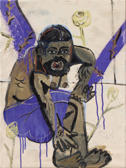 , 'du-rag blues,' 2017, Thierry Goldberg Gallery