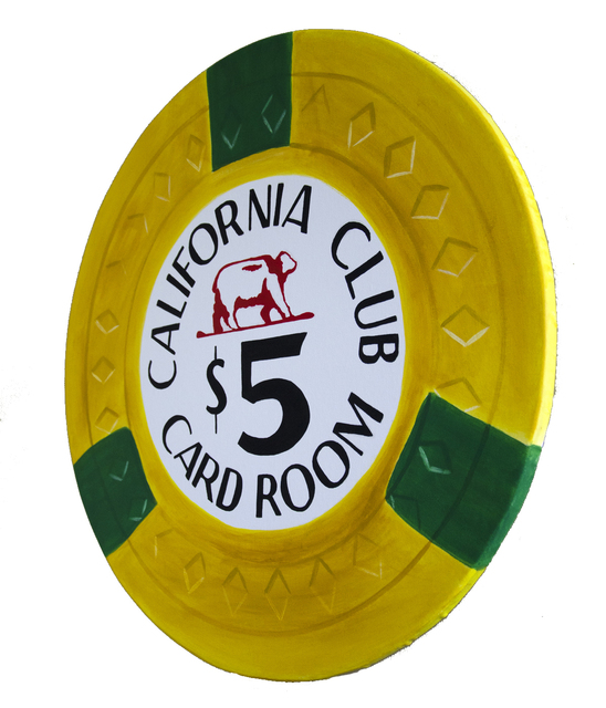 , 'California Club- Giant Casino Chip,' 2017, SPiN Galleries