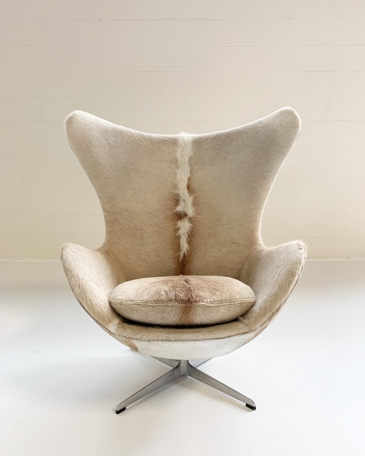 Magnificent Arne Jacobsen Egg Chair Restored In Brazilian Cowhide Mid Evergreenethics Interior Chair Design Evergreenethicsorg