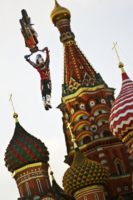 , 'Levi Sherwood of New Zealand Performs in Front of the St. Basil's Cathedral in Moscow's Red Square, Russia,' June 24-2010, Brooklyn Museum