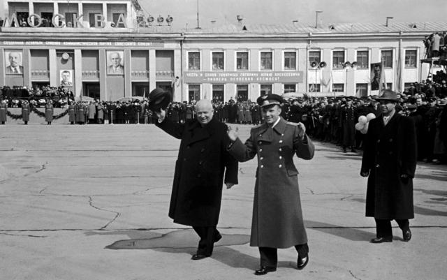 , 'Moscow. Vnukovo. Nikita Khrushchev - Yuri Gagarin. April 14, 1961,' 1961, Kolodzei Art Foundation