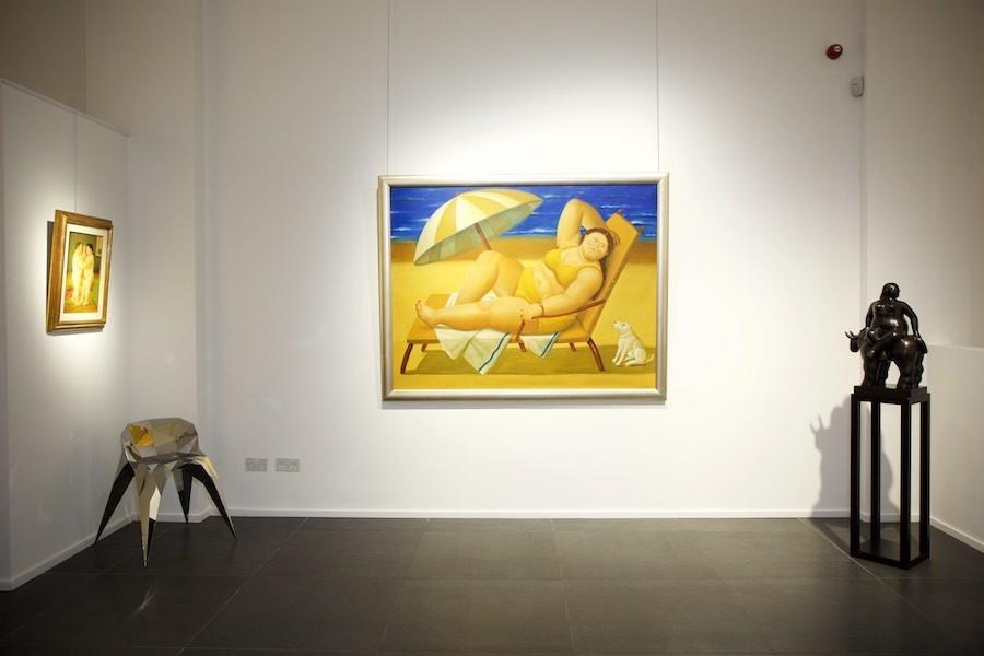 Left: La Danse (2005) Middle: Bañista con perro (2005) Right: Rapto de Europa (2011)