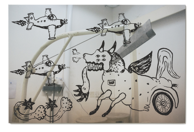 , 'The Flying Dog and the Airplanes,' 2015, STPI