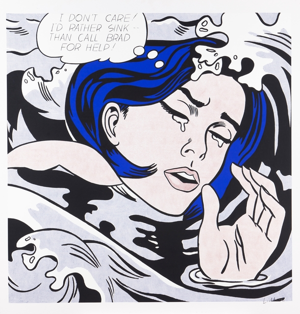 "Roy Lichtenstein, '""Drowning Girl"", 1963', Veritas"