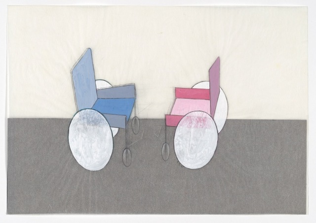 , 'Rollstuhl - Kampf 2 [Wheelchair - Fight 2],' 1975, Richard Saltoun