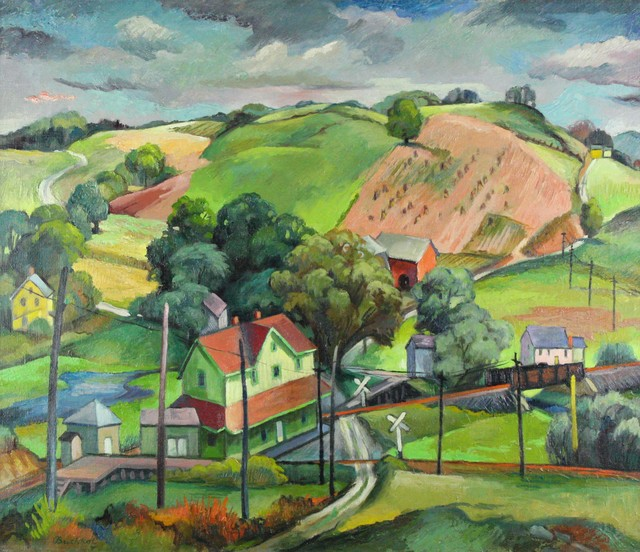 Frederick Buchholz, 'Little Depot in the Hills', ca. 1935, VHD Gallery