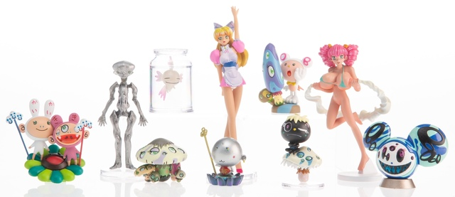 Details about  /Takashi Murakami Super Flat Museum Los Angeles Edition Figures Set 10 Used