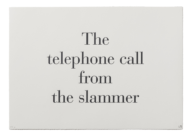 ", '""The Telephone Call from the Slammer"" from ""What is the Shape of this Problem?"",' 1999, Burning in Water"