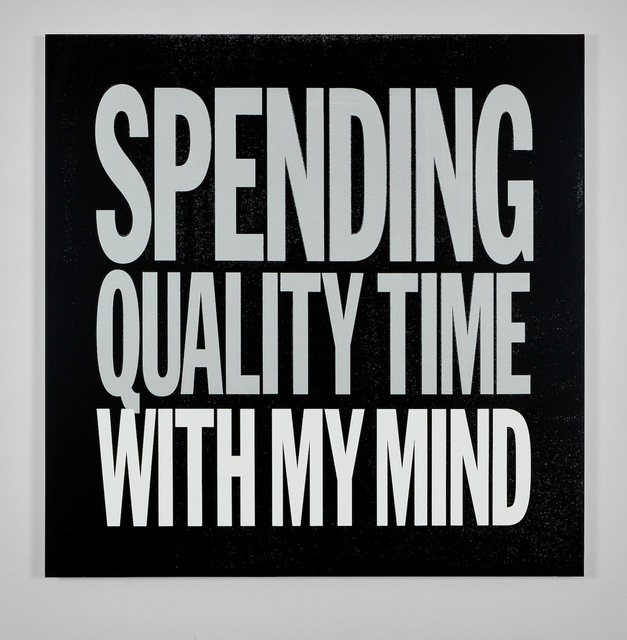 , 'SPENDING QUALITY TIME WITH MY MIND,' 2017, Cahiers d'Art