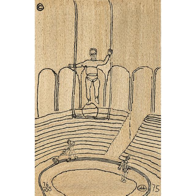 """After Alexander Calder, 'Maguey fiber wall hanging, """"Circus,"""" Guatemala', 1975, Design/Decorative Art, Rago/Wright"""