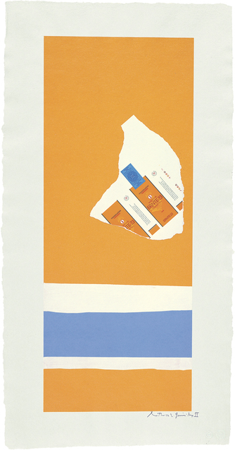 , 'Summer Light Series: Harvest, with Two White Stripes,' 1973, Dedalus Foundation