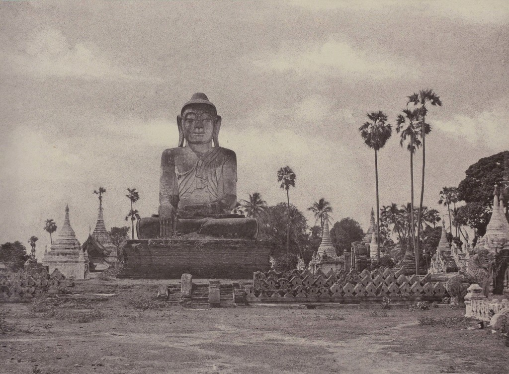 Linnaeus Tripe, 'Amerapoora: Colossal Statue of Gautama Close to the North End of the Wooden Bridge, September 1 – October 21, 1855' © Collection of Charles Isaacs and Carol Nigro
