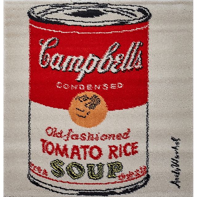 """After Andy Warhol, 'Three wool wall hangings, """"Campbell's Tomato Rice,"""" """"Campbell's Tomato Soup,"""" and """"The Hans Christian Andersen Suite,"""" Denmark', 1990s, Design/Decorative Art, Rago/Wright"""
