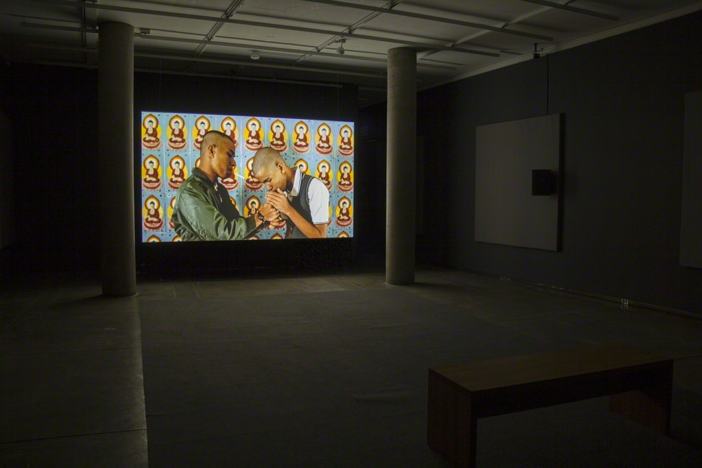 Installation view, Carpenter Center, 2016. Phil Collins, the meaning of style, 2011.