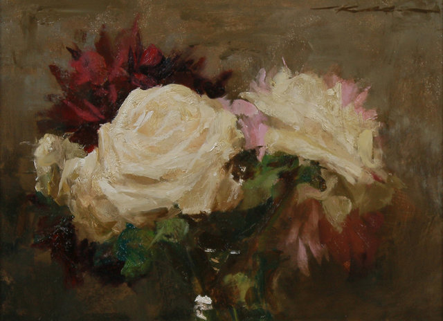 , 'Bouquet w/ Roses & Peonies,' 2018, Maxwell Alexander Gallery