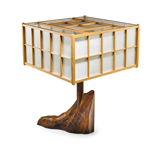 George Nakashima, 'Special Table Lamp, New Hope, PA', 1974, Rago/Wright