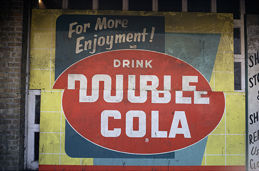 William Christenberry, 'Double Cola Sign, Beale Street, Memphis, Tennessee', 1966, Pace/MacGill Gallery