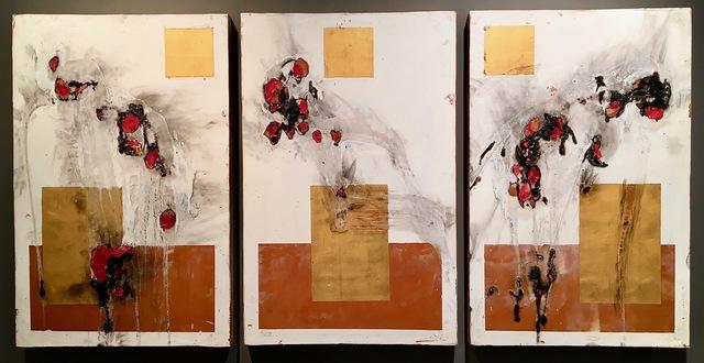 ", '""Ramapo Ironborn Triptych"",' 2015, Novado Gallery"
